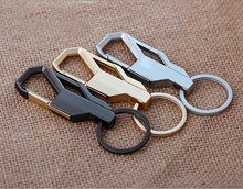 2 Pcs/Lot Leather Key Ring Men Metal Buckle Trinket Holder For BMW Volvo Buick Cadillac Car Keychain Gift Coolcarkey Kukakey