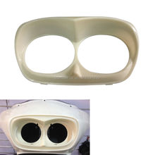 White Unpainted Bad Boy Harley Road Glide Headlight Bezel scowl for outer fairing New Custom Free ShippingCustom Free Shipping(China)