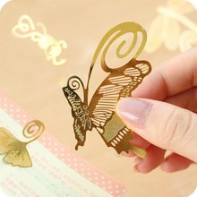 Free shipping Novelty Gift Kawaii School Stationery Store Metal Clip Gold Bookmark For Books / Vintage Book Markers