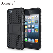 Heavy Duty Defender Hard Plastic Silicon Cover Impact Hybrid Armor With Kick-Stand For Apple iPod Touch 5 Touch 6 Phone Cases