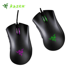 Razer DeathAdder Chroma 10,000 DPI Optical Sensor Ergonomic Gaming Mouse Right Hand Computer PC Mouse Support Synapse 2.0(China)