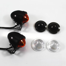 12V 10W Universal Black Bullet Turn Signal Indicator Lights For Honda kawasaki Suzuki Yamaha Harley KTM BWM Dirt Bike