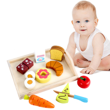Buy Baby Wooden Pretend Play Toys Kitchen Toys Cutting Fruit Vegetables education food Toys Kids Girl Preschool Children Toy for $11.93 in AliExpress store