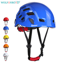 WOLFONROAD Rock Climbing Helmet Safety Downhill Sport Helmet Outdoor Ventilated Cycling Helmet Mountain Bike Extreme Helmet(China)