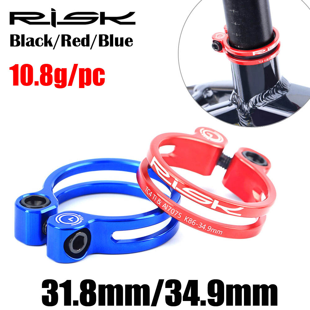 BLACK 8g Road MTB bike SeatPost Clamp 31.8MM Ti Titanium Bolt FOR 27.2MM OR 26.8