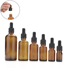 Amber Glass Bottle With Lotion Sprayer, Essential Oil Spray Glass Bottle 5ml 10ml 15ml 20ml 30ml 50ml 100ml Factory Wholesale