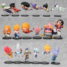 3sets 7-9cm Dragon Ball Z Son Goku The Historical Characters Vol.1 Vol.3 Dragon Ball PVC Action Figure Model Toys Doll(China)
