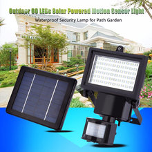 Lightme Waterproof 60 LEDs LED Light Garden Solar Power Motion Sensor 3 Modes Security Lamp Landscape Park Emergency LED Light
