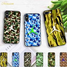 Minason Trend Coque Camouflage Basketball Sport Air Jordan Soft Silicone Phone Case iPhone X 5s SE 6 S 6s 7 8 Plus Cover