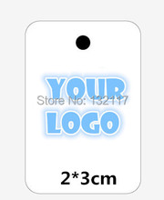 1000pcs/lot 2*3cm Mini Blank Paper Tags Customized Garment Tags Jewelry and Gift Tags and Labels Supplies Custom Logo Price Tag