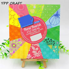 YPP CRAFT 6'' Acid-Free Bright Florals Pattern Decorative Scrapbooking paper set of 36sheets printed background craft paper(China)