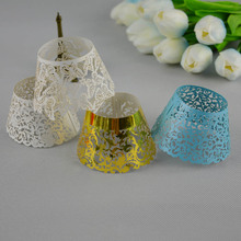 Big Discount 200pcs/lot Gold Laser Cut Cupcake Wrappers For Wedding Party Kids Birthdays Baby Shower Paper Cup Cake Decoration