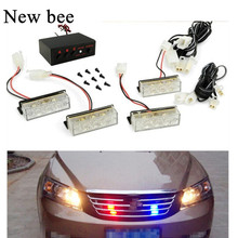 Newbee Blue / Red / Yellow White Car Truck LED Strobe Flash Warning Emergency Bumper Grille Driving Light Bar Police Firefighter