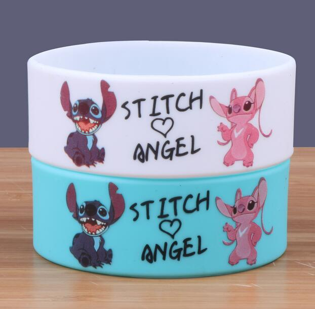 New 50 pcs Popular Stitch Wristband Silicone Bracelets For Man Women jewelry Gift Fashion Accessories  H-204
