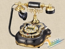 European selling high-end antique retro gifts telephone Decoration home art phone Caller ID backlit Retro art classical(China)