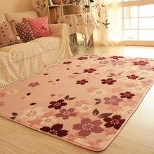 Honey pink soft warm ground rug for living room, big size cherry blossom bedroom ground mat for wedding decoration easy care(China)