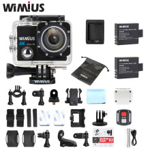 WiMiUS Q3 Action Cam 4k Full HD 1080P Helmet Sport Cameras Go Underwater 40M Pro Waterproof + Remote Controller+Accessories Kit(China)