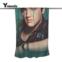 Yinuoda Brand New Elvis Presley Bath Towel 80*160 CM Extended Edge Overlock Beach Towel Beach party gift towels(China)