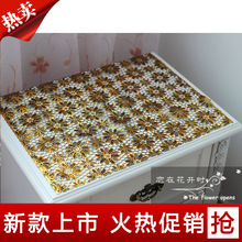 Bronzier cutout pvc tablecloth table cloth bedside cabinet cover tv cabinet cloth table cloth soft glass