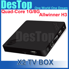 X2 Android 4.4 TV Box Fully Loaded XBMC TV Quad Core 4K*2K H.265 1080P Smart TV Free Sports Film Movies Media Player 10pcs/lot