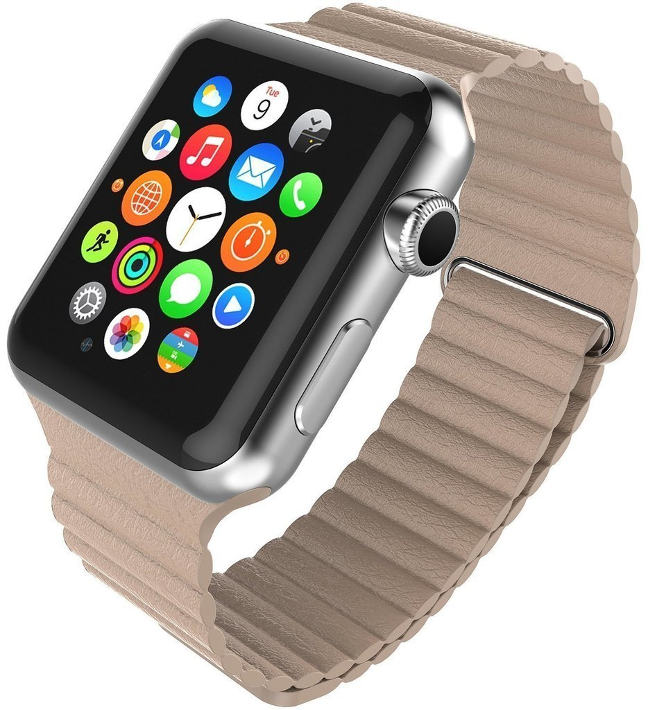 For Apple Watch Premium Leather Band Classic Magnetic Loop iWatch Strap With Adapter Connector<br><br>Aliexpress