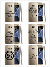 Harry Potter Quotes Cover case samsung galaxy S3 S4 mini S5 S6 Note 2 3 4 5 Hard plastic Case - HZFLH Store store