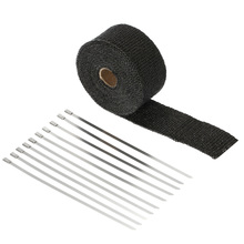 KKmoon 5m Exhaust Heat Wrap Turbo Pipe Heat Insulated Wrap for Car Motorcycle(China)