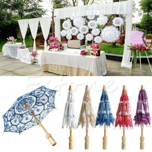 S-home New Arrival Embroidered Lace Parasol Umbrella For Bridal Wedding Party Decoration MAR14