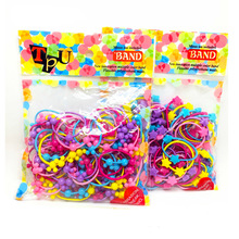 50pcs Kids Plastic Elastic rubber bands children Headbands Cute Mickey baby Hair accessories for girls headwear scrunchies Gum
