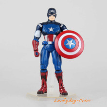 Action Figure Toys Captain America 7 inch scale painted figure Captain America figure Garage Kits Dolls Brinquedos Anime