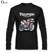 Speed Triple 1050 Triumph Motorcycle Men Man's Backing Tees Shirt Fashion Long Sleeve Father's Day Custom Family Tee Shirts(China)