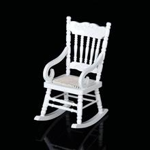 1/12 Rocking Chair Model Doll House Mini Miniature Furniture Educational Dollhouse Furniture Toy 3d Wood Puzzle(China)