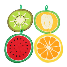 New Lovely Fruit Print Hanging Kitchen Hand Towel Microfiber Towels Quick-Dry Cleaning Rag Dish Cloth Wiping Napkin EJ891908