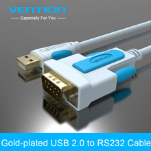 Vention New USB 2.0 to RS232 Serial Cable 3m 2m 1.5m 1m 9Pin DB9 Cable USB Adapter Support for XP WIN7 WIN8 MAC VISTA USB RS232(China)