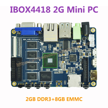 Ibox4418 2G Mini PC S5P4418 ARM Cortex-A9 Quad Core 2GB DDR3 8GB EMMC Demo Board Mini PC(China)