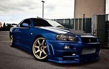 "Nissan Skyline GTR super sports car racing retro wall decoration 40x60cm ""poster, room decor best"