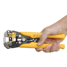 High Quality 210MM Self-adjusting Automatic Multi Cable Wire Stripper Electrician Pliers Hand Tool Yellow Cutter Crimper(China)