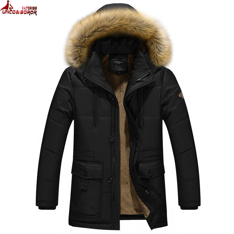 UNCO&amp;BORORWarm Outwear Winter Jacket Men Thick Windproof Coat Casual Man Jacket fleece cotton-padded parka men brand clothingÎäåæäà è àêñåññóàðû<br><br>