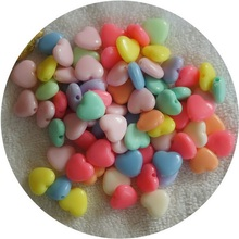50Pcs/Lot 12mm Love beads Cheap New Acrylic Resin Beads Candy Color Acrylic Spacer Beads Children Jewelry Accessoires Wholesale