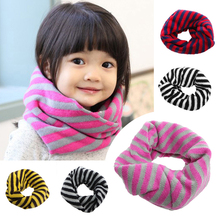 Fashion Autumn Winter Children Striped pattern Scarf Collars Warm Boy Girls Wool Scarves Cute scarf