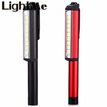 2016 New Hot Selling 160 lumens Super Ultra Bright 5050 LED 9 LEDs LED Pocket Pen Work Light with Powerful Magnetic Base Clip