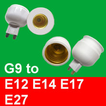 Pins lamp holder G9 convert to E12 light bulb Screw lamp base socket adapter(China)