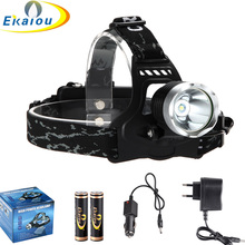 2000 Lumen CREE XM-L T6 LED Headlamp Headlight Head light Lamp Flashlight 18650 +2x18650 Battery + Charger + Car charger(China)