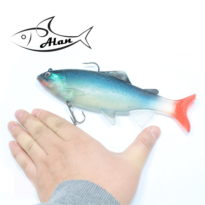 Fishing Lure Sea Fishing Tackle Soft Bait Lead Fishing 20cm/130g Artificial Bait Jig Wobblers Rubber Silicon Lure Trout Trolling<br>