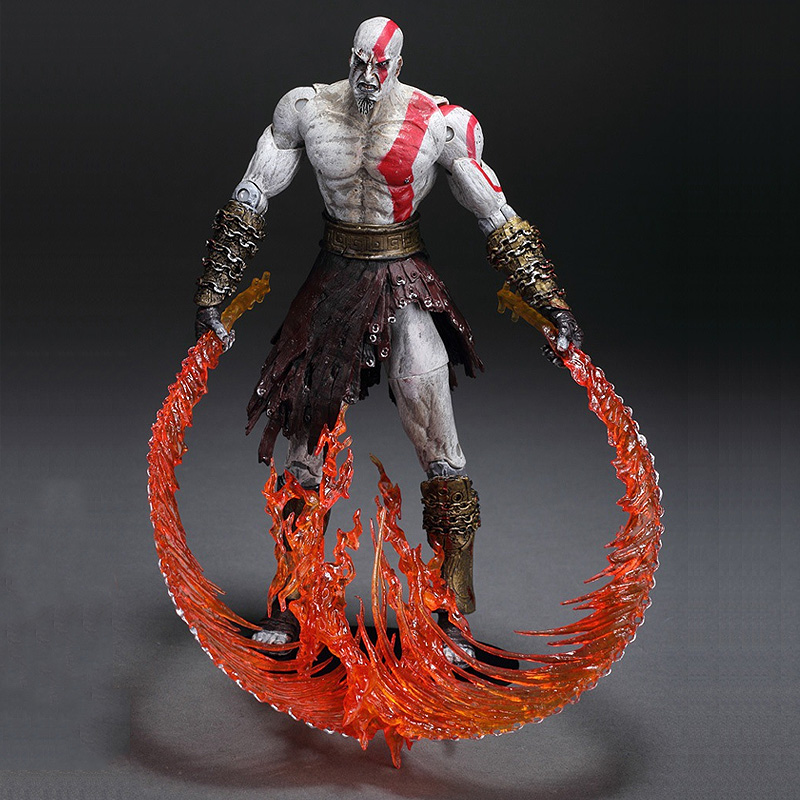 "7""18cm High Quality NECA God of War Kratos in Ares Armor Blades PVC Action Figure Toy(China (Mainland))"