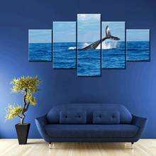 Beautiful Seascape Picture The Whale at the Surface Animals HD Print Canvas Painting for Office Bedroom Decor Large Dropshipping