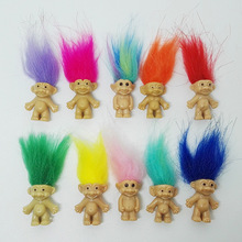 5pcs/lot Colorful Hair Troll Doll Family Members Daddy Mummy Baby Boy Girl Leprocauns Dam Trolls Toy Gifts Happy Love Family(China)