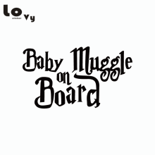 Harry Potter Car Sticker Baby Muggle On Board Funny Warning Sign Vinyl Car Decal(China)