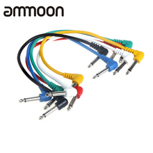 High Quality 6pcs/set Multicolor Guitar Link Cable Angled for Guitar Effect Pedals High Quality Guitar Patch Cables