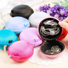 2017 Famous Brand New Colorful Portable Mini Round Portable Coin Wallet Purse Hard Key Earphone Holder Case Bag Versatile Women